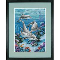 """03830 Набор для вышивания крестом """"Царство дельфинов//The Dolphins' Domain"""" DIMENSIONS"""