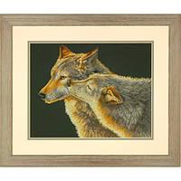 "70-35283 Набор для вышивания крестом ""Поцелуй//Wolf Kiss"" DIMENSIONS"