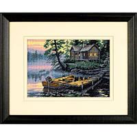 """65091 Набор для вышивания крестом """"Утро на озере//Morning Lake"""" DIMENSIONS Gold Collection"""