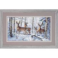 """35130 Набор для вышивания крестом """"Зима в лесу//Woodland Winter"""" DIMENSIONS Gold Collection"""