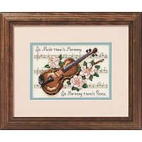 """16656 Набор для вышивания крестом """"Гармония музыки//Music is Harmony"""" DIMENSIONS"""
