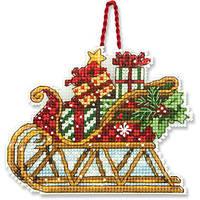 """70-08914 Набор для вышивания крестом """"Украшение Сани//Sleigh Ornament"""" DIMENSIONS"""