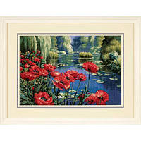 "20066 Набор для вышивания гобеленом ""Маки у озера//Lakeside Poppies"" DIMENSIONS"