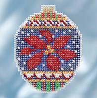 "MH211814 Набір для вишивання ""Christmas Poinsettia//Різдвяна пуансеттія"" Mill Hill"