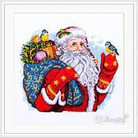 """K-123 Набор для вышивания крестом """"Счастливого Рождества!"""" Мережка"""