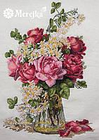 """K-39 Набор для вышивания крестом """"Розы"""" Мережка"""