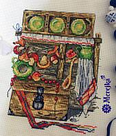 """K-09 Набор для вышивания крестом """"Каждой Молодушке- Дом,Сундук И Кошечку - 2"""" Мережка"""