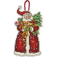 """70-08895 Набор для вышивания крестом """"Украшение Санта//Santa Ornament"""" DIMENSIONS"""