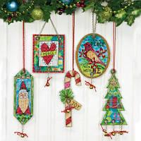 """70-08868 Набор для вышивания крестом """"Украшения Джингл Белл//Jingle Bell Ornaments"""" DIMENSIONS"""
