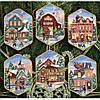 """08785 Набор для вышивания крестом """"Рождественские украшения деревня//Christmas Village Ornaments"""" DIMENSIONS"""
