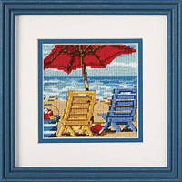 """07223 Набор для вышивания гобеленом """"Пляжные кресла//Beach Chair Duo"""" DIMENSIONS"""