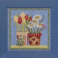 "DM301912 Набор для вышивания ""Tulips & Daisies//Тюльпаны и ромашки"" Mill Hill"