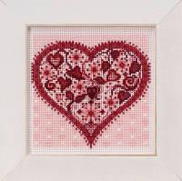 "MH141912 Набор для вышивания "" Valentine Heart//Сердце Валентинка"" Mill Hill"