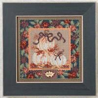 "MH144205 Набор для вышивания ""White Pumpkins//Белые тыквы"" Mill Hill"