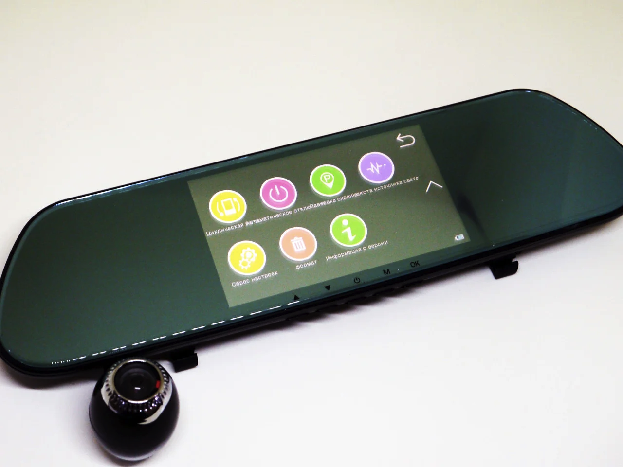 """Автомобильный видеорегистратор зеркало DVR V9TP Full HD 5"""" сенсорный экран 3 камеры"""