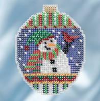 """MH211811 Набір для вишивання """"Snowman Greetings//Привітання сніговика"""" Mill Hill"""