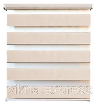 Тканевые роллеты, день-ночь, (зебра) Бежевый 650 грн м кв