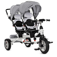 Двухместный трехколесный велосипед  Turbo Trike M 3116TW-3A  Duos, для двойни, чёрный