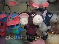 Милые зверята брелки на детскую сумку портфель,на ключи , 11 разновидностей, фото 7