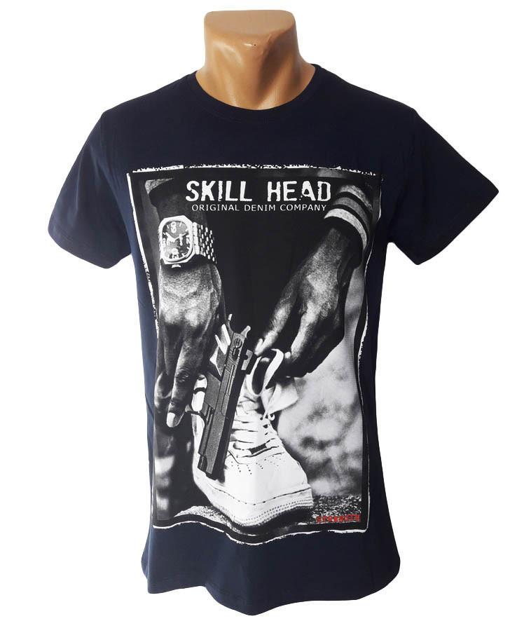 Стрейчевая синяя футболка Highlander - №5218