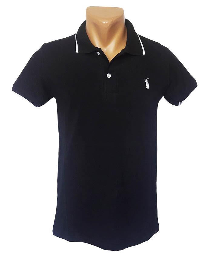 Черная футболка Поло Sport Line - №5275