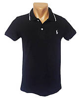 Черная футболка Поло Sport Line - №5275, фото 1
