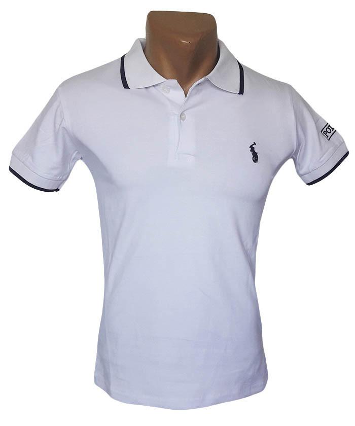 Белая футболка Поло Sport Line - №5279