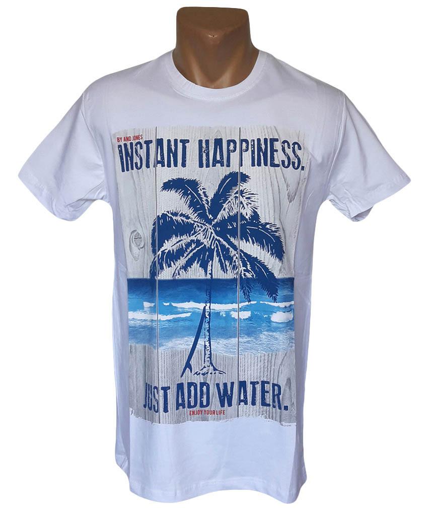 Модная белая футболка Daniel and Jones - №5332
