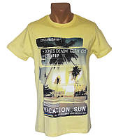Желтая мужская футболка Daniel and Jones - №5342