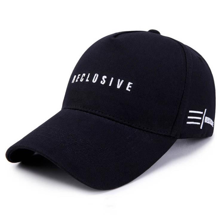Стильная черная кепка Reclusive SGS - №5680