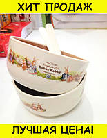 Набор детских тарелок Bobby Rabit Wonderful Life