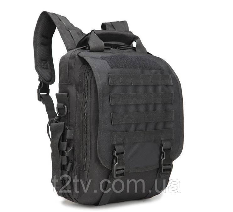 Сумка-рюкзак тактическая TacticBag A28 черная, 30 л