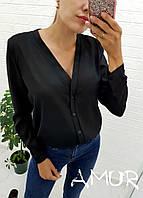 Жіноча легка сорочка на гудзиках Батал