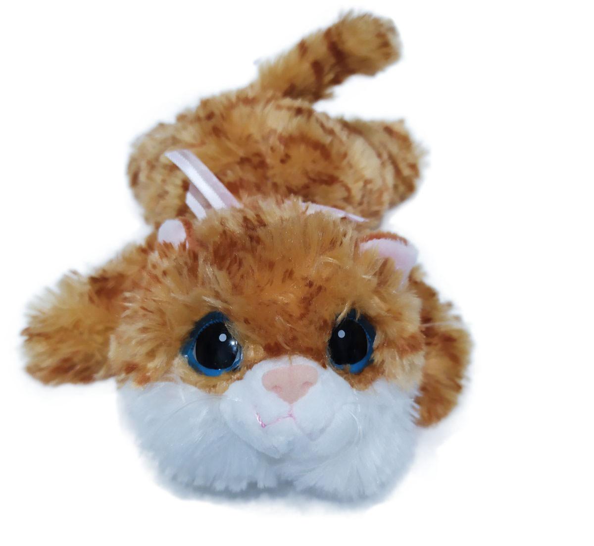 Мягкая игрушка Мупси котик №2 рыжий (серый) 24982-5