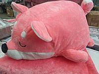 Подушка - игрушка плед 3 в 1  Лисичка