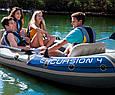 Четырехместная надувная лодка для рыбалки и прогулок Intex EXCURSION 68324, до 400 кг, фото 7