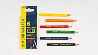 SALE! Карандаши цветные Marco, SUPERB WRITER, 6 цв - 10см