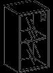 Шкаф пенал низкий Morion 23\802  450х400х800