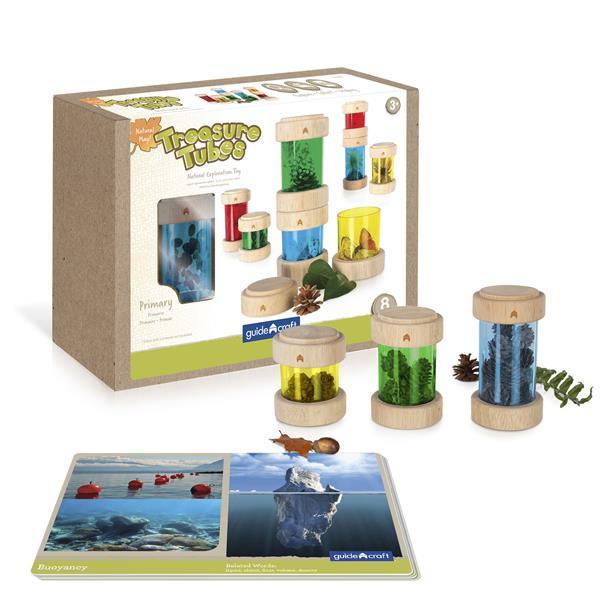 Набор Guidecraft Natural Play Сокровища в баночках, разноцветный (G3087)
