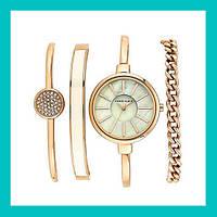 Часы в подарочной упаковке ANNE KLEIN Gold White!Акция