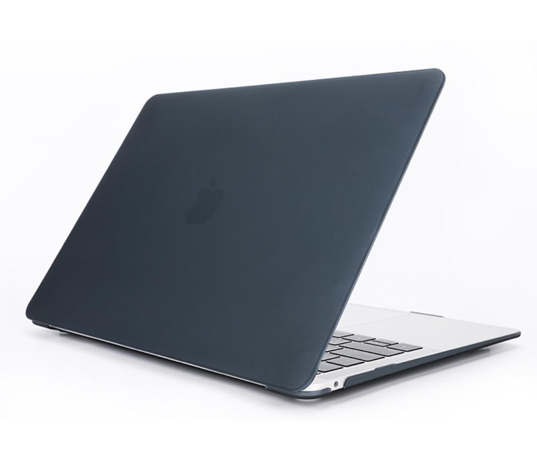 Чехол пластиковая накладка для макбука Apple Macbook Air Touch ID 13,3'' (A1932/A2179/А2337) - черный