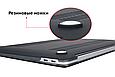 Чехол пластиковая накладка для макбука Apple Macbook Air Touch ID 13,3'' (A1932/A2179/А2337) - черный, фото 4