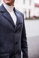Пальто мужское кашемировое весеннее-осеннее Elegant X antracit  ЛЮКС качества