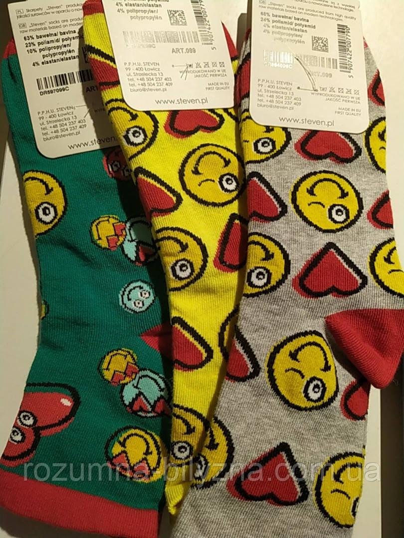 Шкарпетки жіночі кольорові з принтом. ТМ Steven,38-40. 35-37
