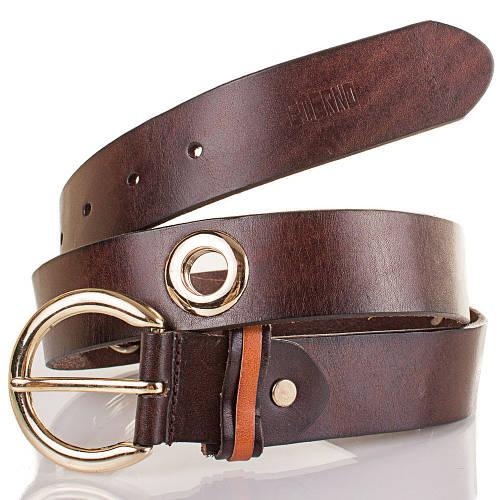 Женский кожаный ремень ETERNO (ЭТЕРНО) ETS429-10 коричневый