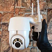 Камера видеонаблюдения, Полностью вращается, IP с записью WIFI (настоящие фото)