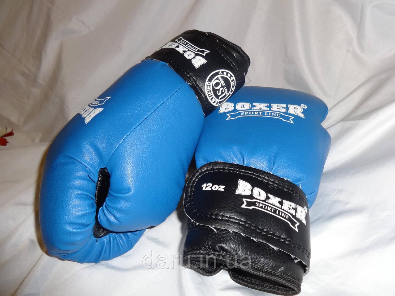 Боксерские перчатки 12 oz КОЖВИНИЛ Boxer 3 цвета