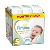 Підгузок Pampers Premium Care Junior 5 (11-16 кг) 136шт (8001090959690)