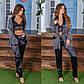 """Женский пижамный костюм-тройка с брюками в больших размерах 530-2 """"Шёлк Полоска Комби"""" в расцветках, фото 3"""