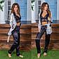 """Женский пижамный костюм-тройка с брюками в больших размерах 530-2 """"Шёлк Полоска Комби"""" в расцветках, фото 4"""